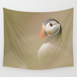 Portrait of Puffin Wall Tapestry