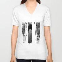 ufo V-neck T-shirts featuring ufo by Natasha79