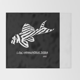 Zebra Pleco L-046  Throw Blanket