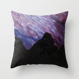Night Sky, Mountain High Throw Pillow