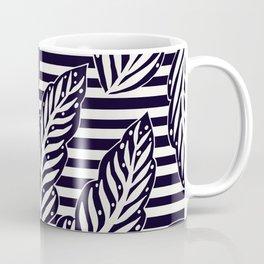 Foliage and stripes - black and white Coffee Mug
