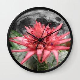 MOON - FLOWER 009 Wall Clock