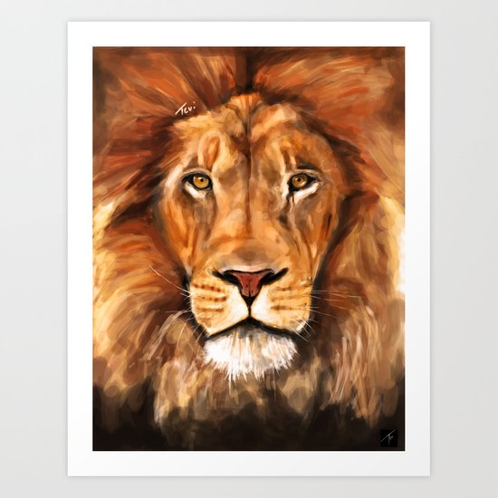 Iron Lion Art Print