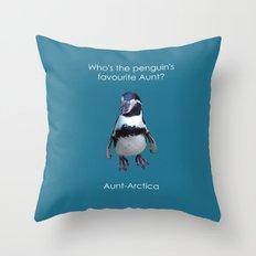 Aunt-Artica Throw Pillow