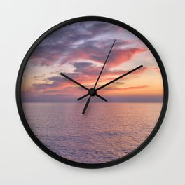 Carvoeiro at dusk in winter Wall Clock