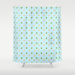 Hot-dogs and Cactus Shower Curtain