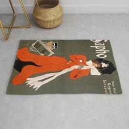 Sapho vintage poster art Rug