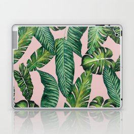 Jungle Leaves, Banana, Monstera II Pink #society6 Laptop & iPad Skin