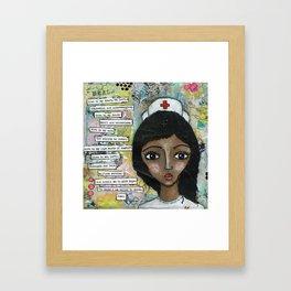 Nurse - African American  Framed Art Print