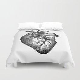 Vintage Heart Anatomy Duvet Cover