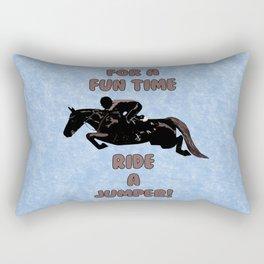 For a Fun Time, Ride A Jumper! Horse Rectangular Pillow
