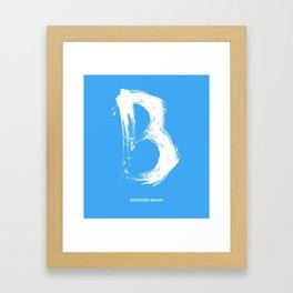Boosted Brain Framed Art Print