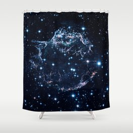 Remains of a supernova explosion. Cassiopeia A Shower Curtain