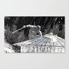 Black and White Ninja Turtle Leonardo Canvas Print