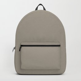 Goose Feather Grey Solid Color Accent Shade Matches Sherwin Williams Intellectual Gray SW 7045 Backpack