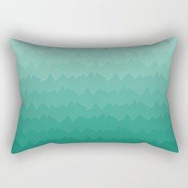 Emerald Peaks Rectangular Pillow