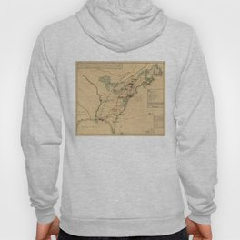 Vintage British Occupation Map of America (1765) Hoody