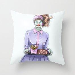 Zombie drive-thru Throw Pillow