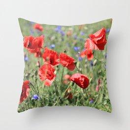 poppy flower no9 Throw Pillow