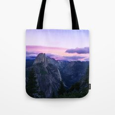 The Mountains and Purple Clouds Tote Bag