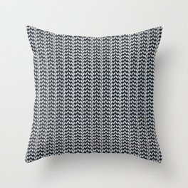 Silver shackle pattern Throw Pillow