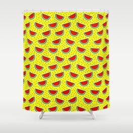 Watermelon on yellow Shower Curtain