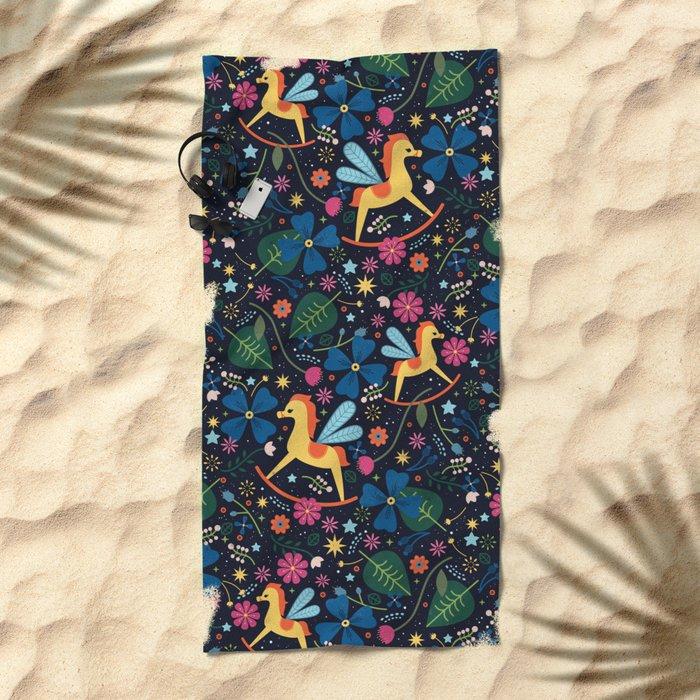 Rocking-Horse-Fly Beach Towel