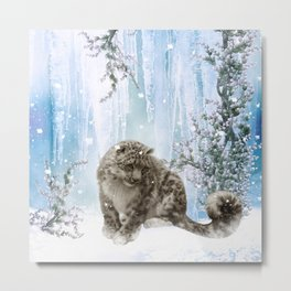 Wonderful snowleopard Metal Print