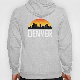 Sunset Skyline of Denver CO Hoody
