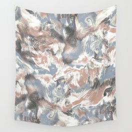 Marble Mist Terra Cotta Blue Wall Tapestry