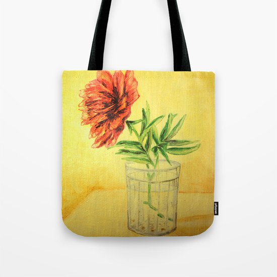 flower in a glass Tote Bag