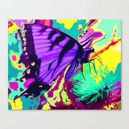Purple butterfly beauty 1 Canvas Print