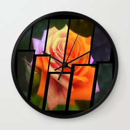 Pink Roses in Anzures 4 Tinted 2 Wall Clock