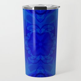 Blue kaleidoscope 2 Travel Mug