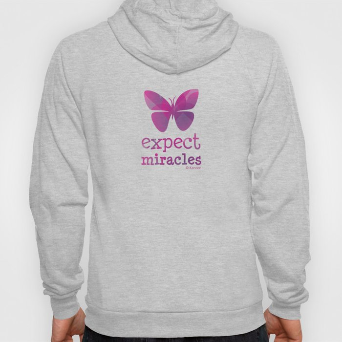 EXPECT MIRACLES - purple butterfly Hoody