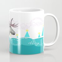 elk Mugs featuring Elk by Anne Augenblick