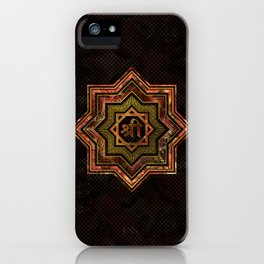 Red Gemstone and gold  Star of Lakshmi -  and Sri iPhone Case