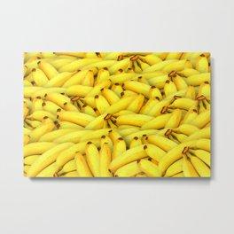 Yellow Bananas pattern Metal Print