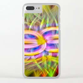 coloris twirls Clear iPhone Case