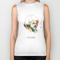 tim shumate Biker Tanks featuring Tim Maia by Carlos Quiterio