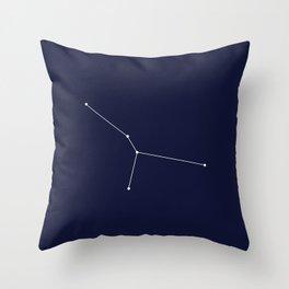 Cancer Star Sign Deep Blue Throw Pillow