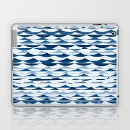 Glitch Waves - Classic Blue Laptop & iPad Skin