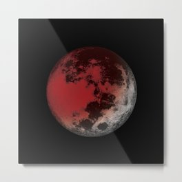 Red Moon Eclipse Metal Print