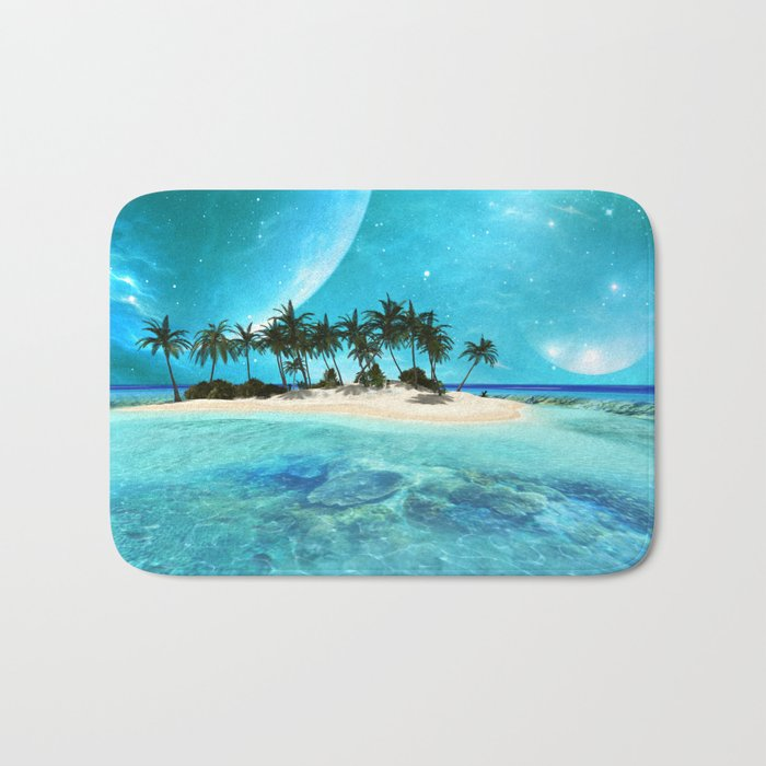 Wonderful tropical island Bath Mat