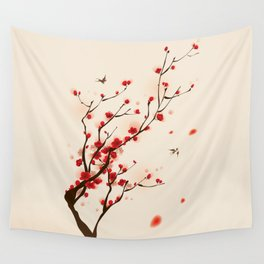 Oriental plum blossom in spring 005 Wall Tapestry