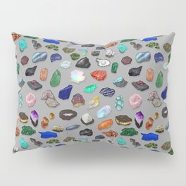 Painted Gemstones Repeating Pattern Pillow Sham