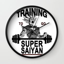 training to go super saiyan Wall Clock