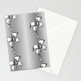 Black And White Animal Print And Flowers Stationery Cards