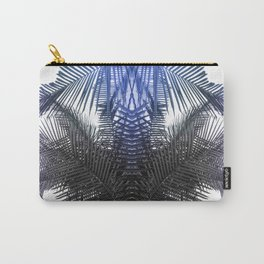Blue and Gray fern Carry-All Pouch