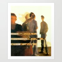 blur Art Prints featuring Blur by Peter Campbell